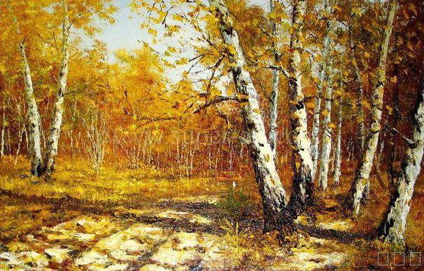 田园风光风景油画