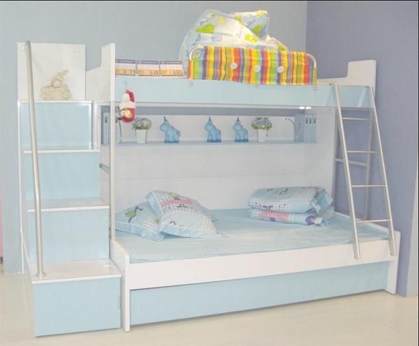 可爱多儿童家具彩色上下床