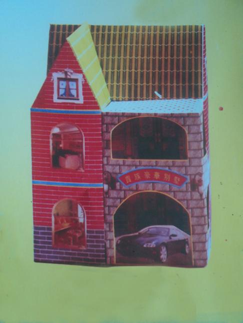 扎楼房 3 单位 :个              材质:加厚卡纸 规格:     包装:纸箱