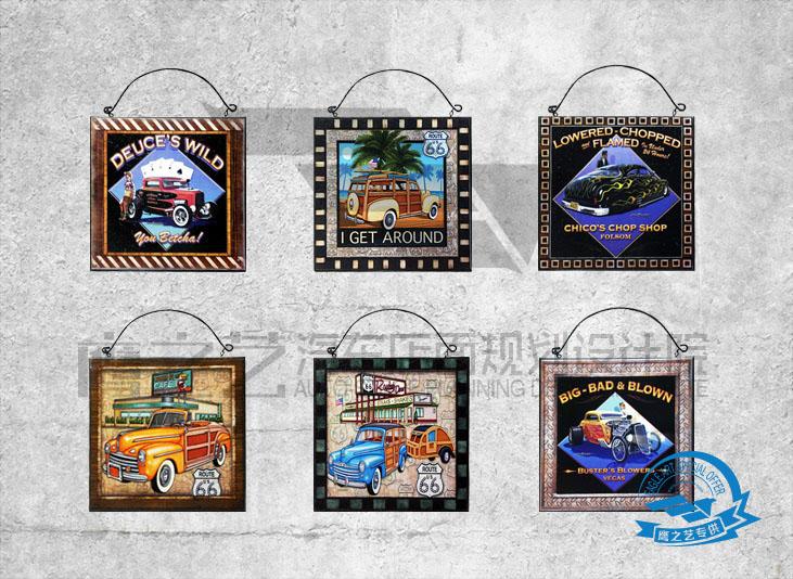 汽车店铺装饰品--汽车挂画