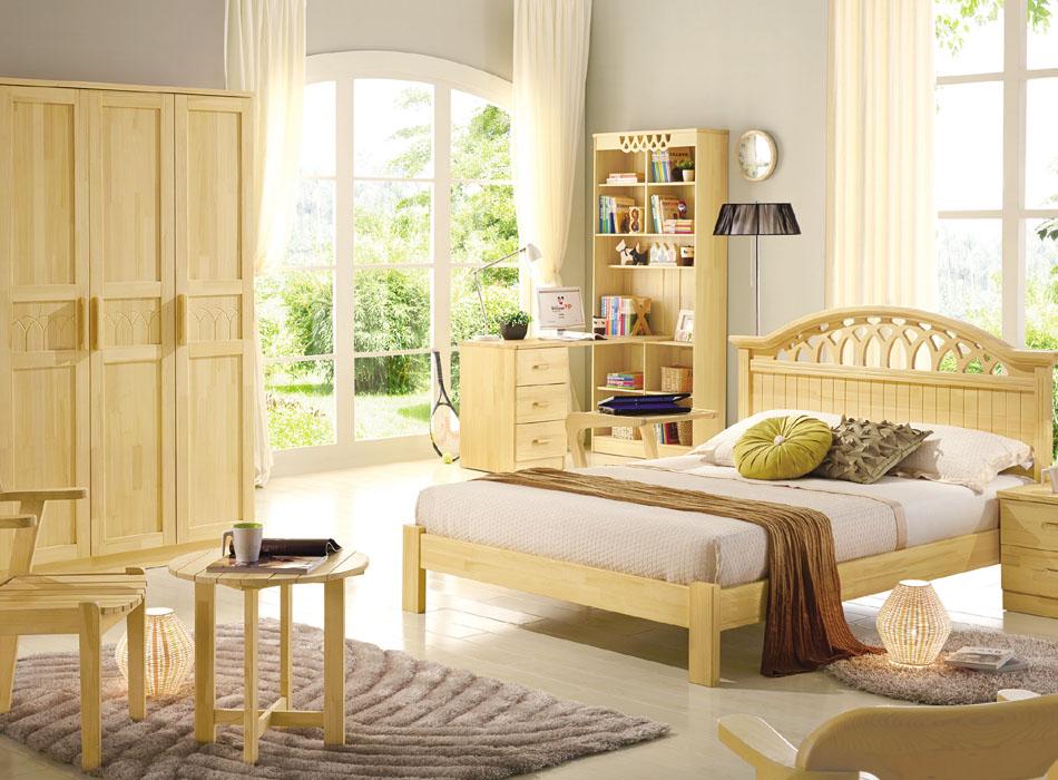 可爱多松木家具系列,选用俄罗斯进口的樟子松