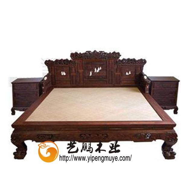 产品首页 家居用品 卧室家具 床 老榆木中式床yp04-上海专业中式家具