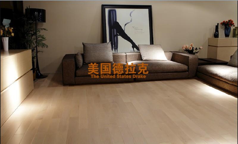 新振泰山地板-加拿大硬枫实木地板-浅色地板 现代简约风格 环保无气味