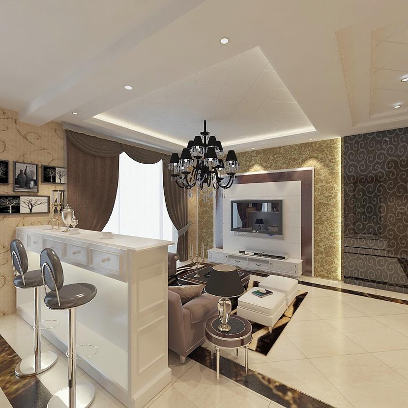 【客厅欧式效果图】厂家,价格,图片_上海凯乾建筑装饰