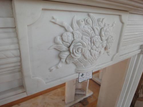 欧式装饰大理石雕花壁炉图片