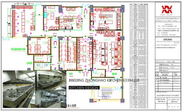 【商用整体厨房工程设计】厂家,价格,图片_北京中昊