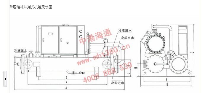 美的高效降膜式螺杆冷水机组r134a系列 中央空调