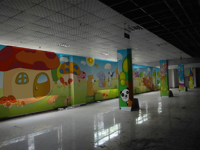 【石家庄儿童乐园墙体彩绘|石家庄幼儿园墙体彩绘|园
