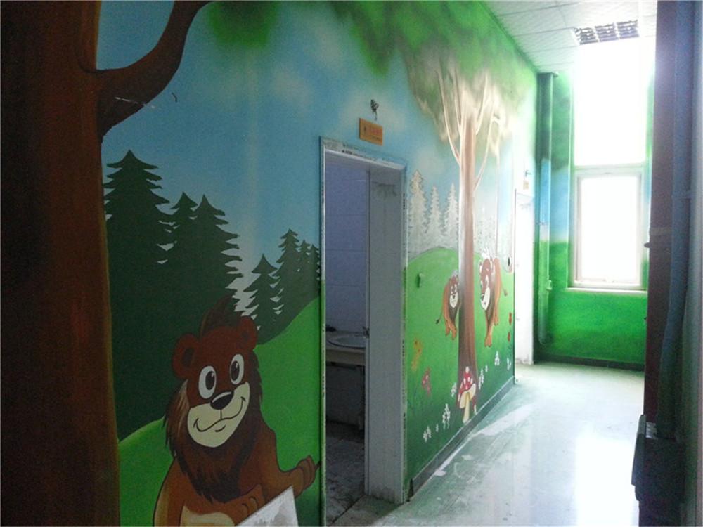 石家庄稻米宝贝墙绘画|石家庄儿童城墙体彩绘