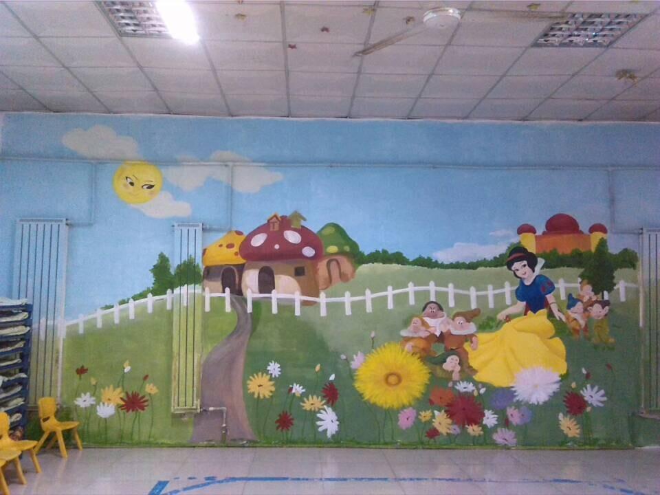 石家庄幼儿园墙体彩绘|石家庄幼儿园墙体手绘|石家庄幼儿园彩绘