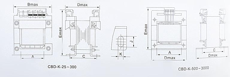 CBD-K系列控制变压器是经过多年进一步吸收国内外同类产品的优点,采用先进工艺和严谨设计进行制造,并优选国内外先进方式的接线端子,具有性能优良、工作可靠、耗能低、体积小、接线安全、防护等级高、适用性广等特点。在额定负载下能长期工作,是一种理想的变压电器。