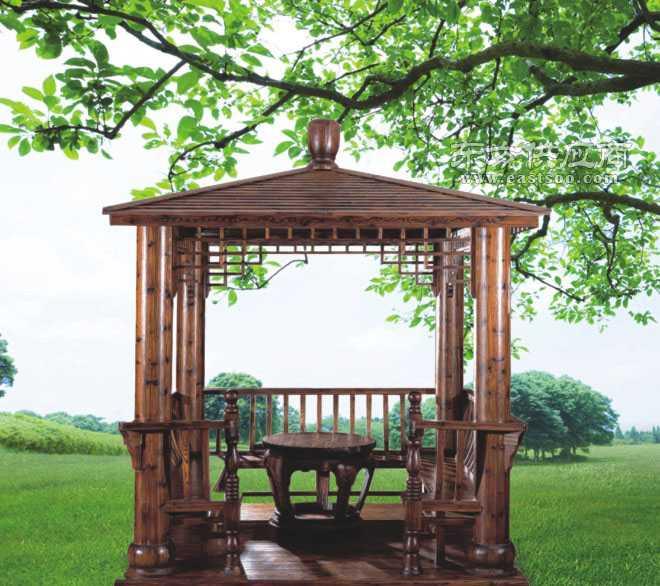 重庆大自然园林景观私家花园设计户外防腐木亭子