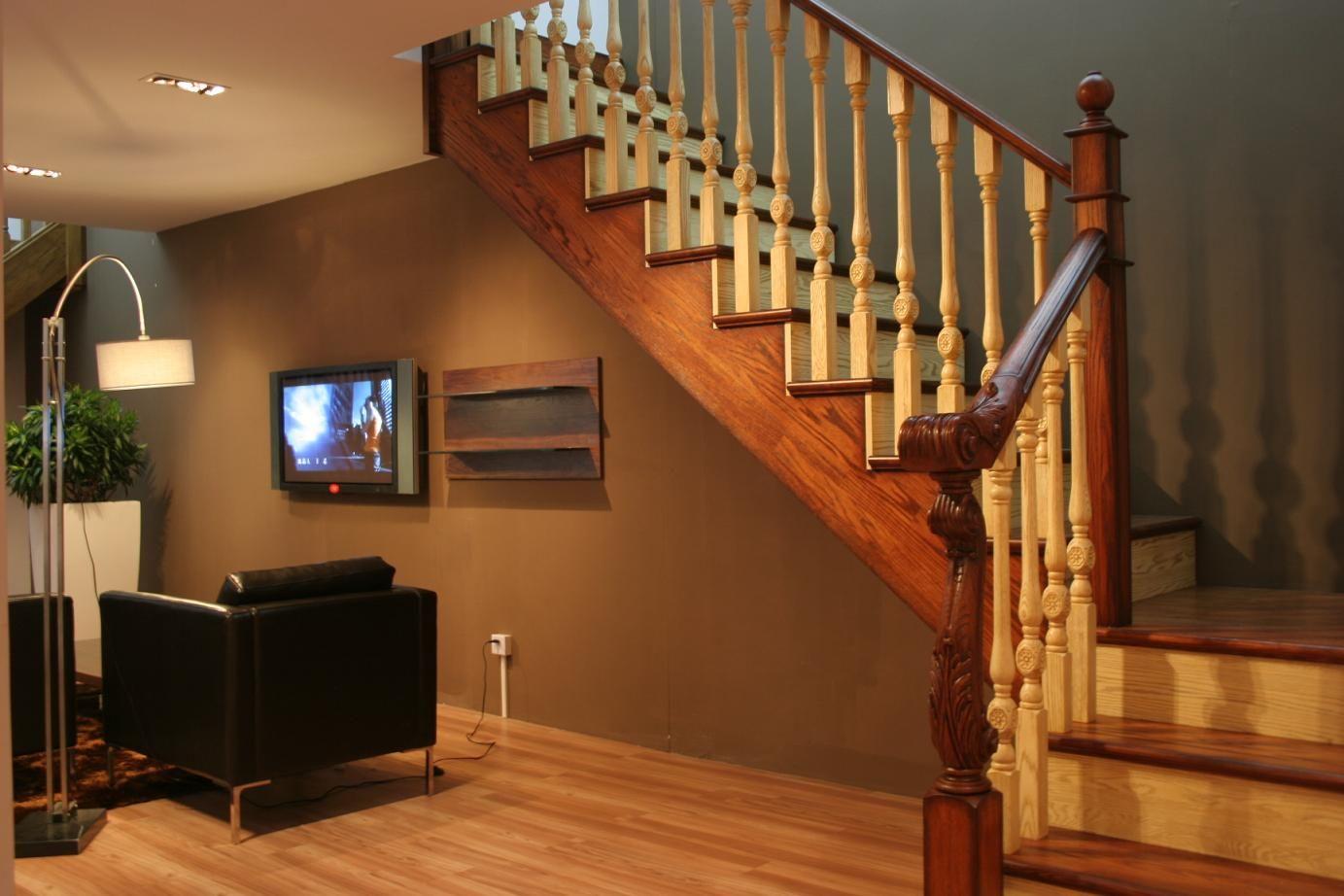 别墅实木楼梯pt009上海楼梯-上海实木楼梯-上海楼梯公司设计定制别墅