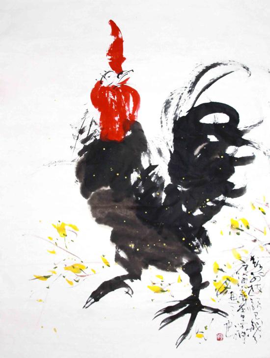 纵横奔放,而又有趣味盎然的感觉,在他绘制的写意画中,多以花,鸟,鱼,虫