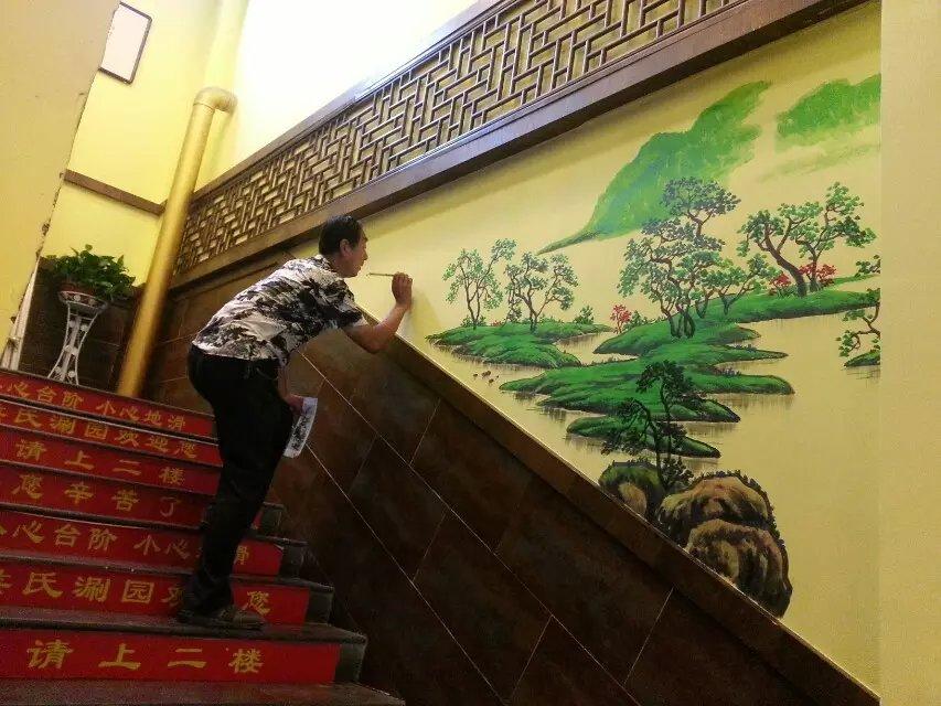 创意设计 平面设计 石家庄行唐侯氏火锅墙绘丨石家庄墙体手绘丨.