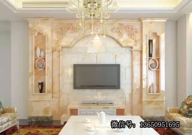 【组图】大理石电视背景墙 欧式石材背景墙