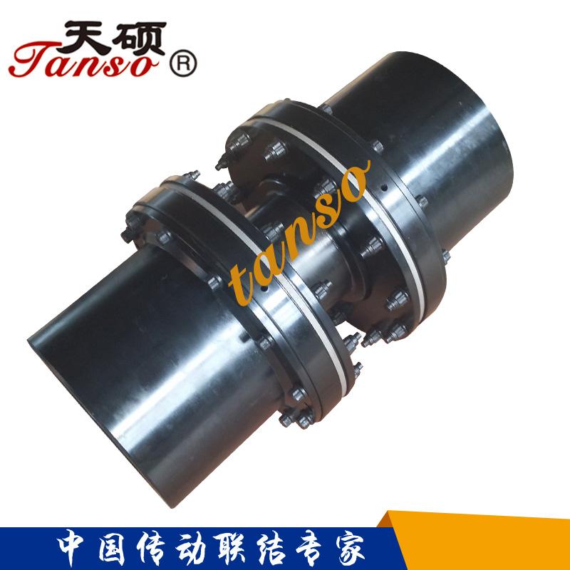 短轴距膜盘联轴器的一般形式,重量轻,结构简单,拆装方便,可适应较