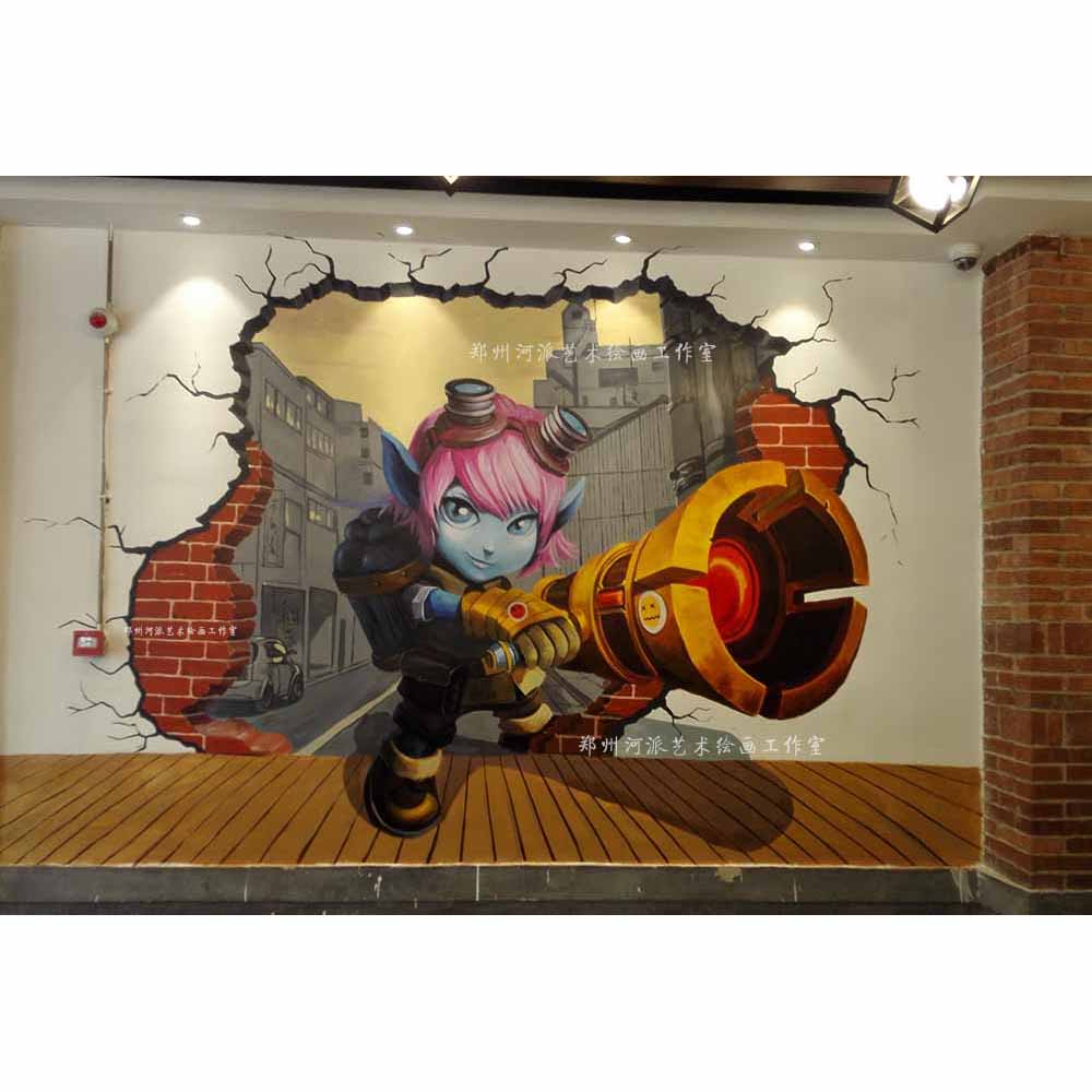 郑州手绘3d立体画|手绘3d立体画加工|手绘3d立体画设计
