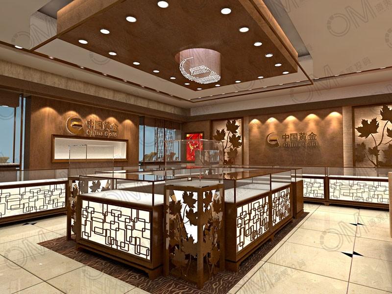 江西黄金珠宝展柜图片