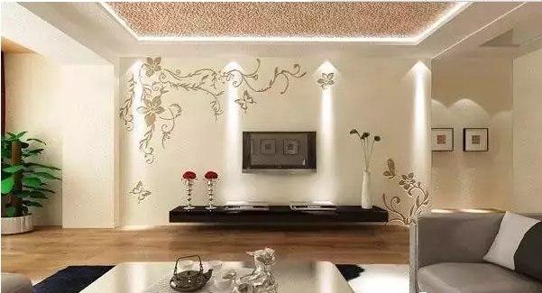 经常使用一些特殊的材料为电视墙增加变化,比如硅藻泥,木板,长城板