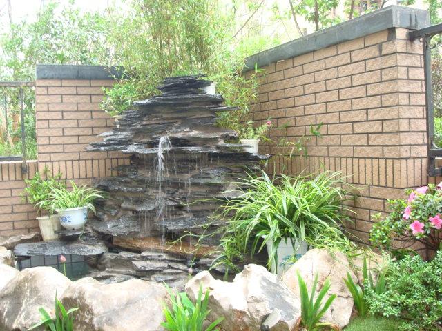 水池景观假山造雾 假山流水喷泉图片