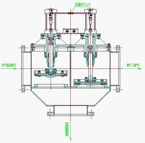 与大型四通阀相比,管路较短,可大大减少燃气换向时的管路损失.图片