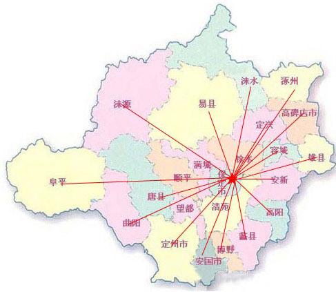 高阳县城街道地图