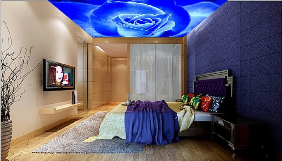卧室手绘天花吊顶图