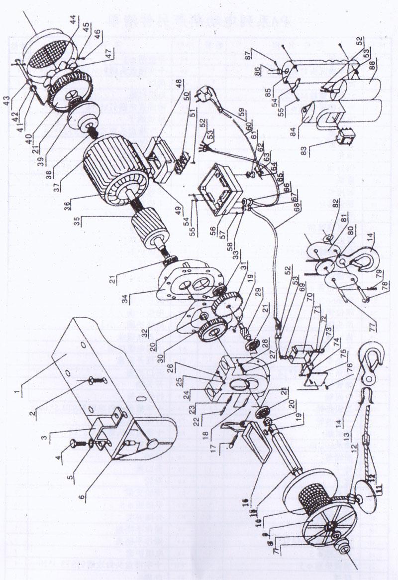 微型电动葫芦使用说明书
