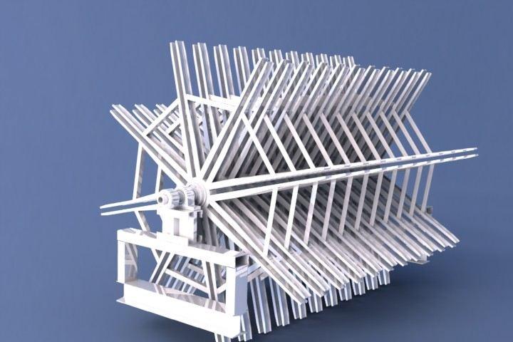 庆祝我厂米字石膏板翻板机投入生产