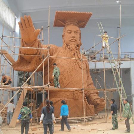 汶川叶毓山《大禹治水》雕塑总高16米人