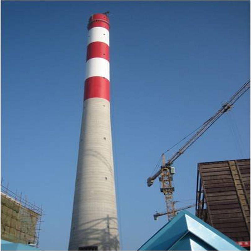 井冈山电厂烟囱航空标志漆 河北电建二公司