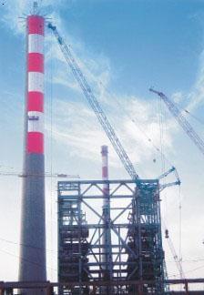 山东华能博山白杨河电厂--航空标志漆