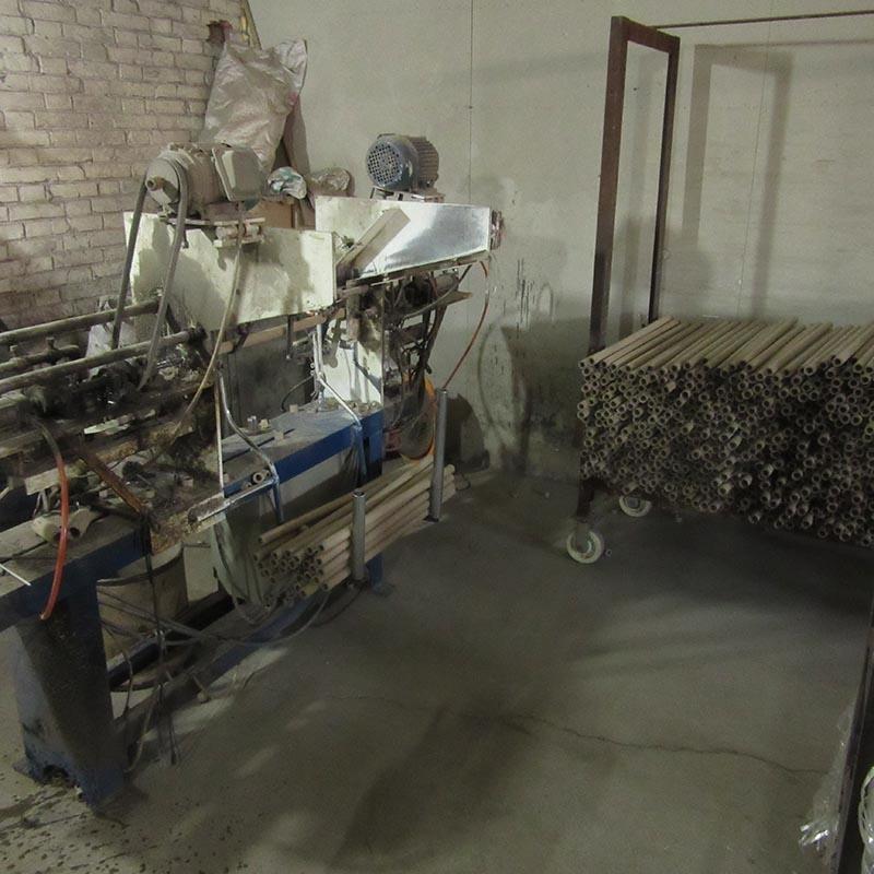纸管生产中