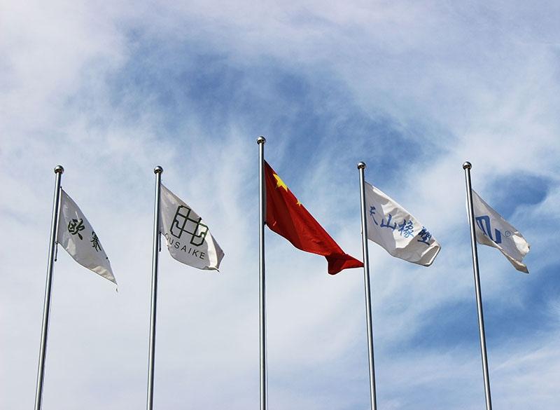 国旗和企业旗帜