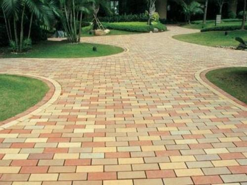 人行道彩色便道砖铺装的方法简述
