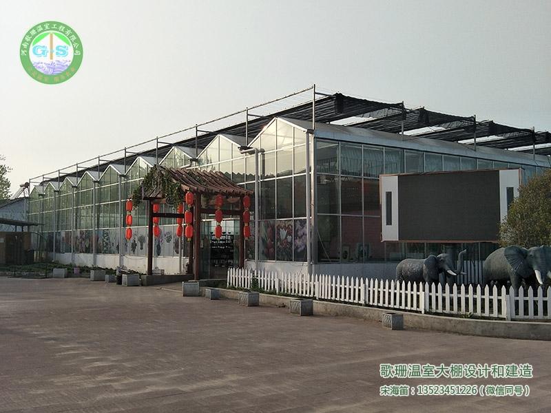 安徽阜阳连栋PC阳光板(玻璃)温室