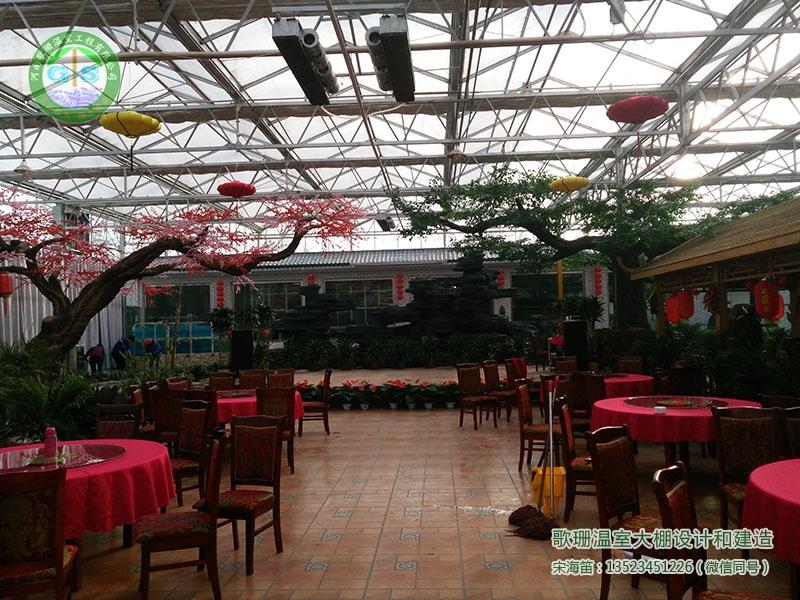 青海海东连栋生态餐厅温室