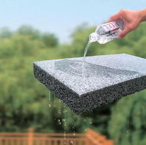 郑州海绵砖商家谈透水砖的生态环境效益