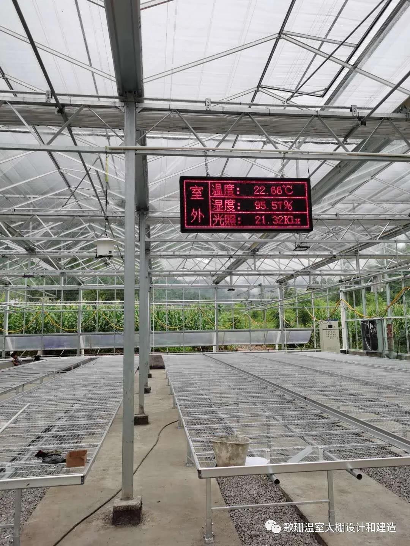 【歌珊温室】重庆市黔江区连栋全玻璃温室工