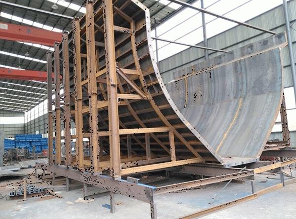 引水渡槽钢模板