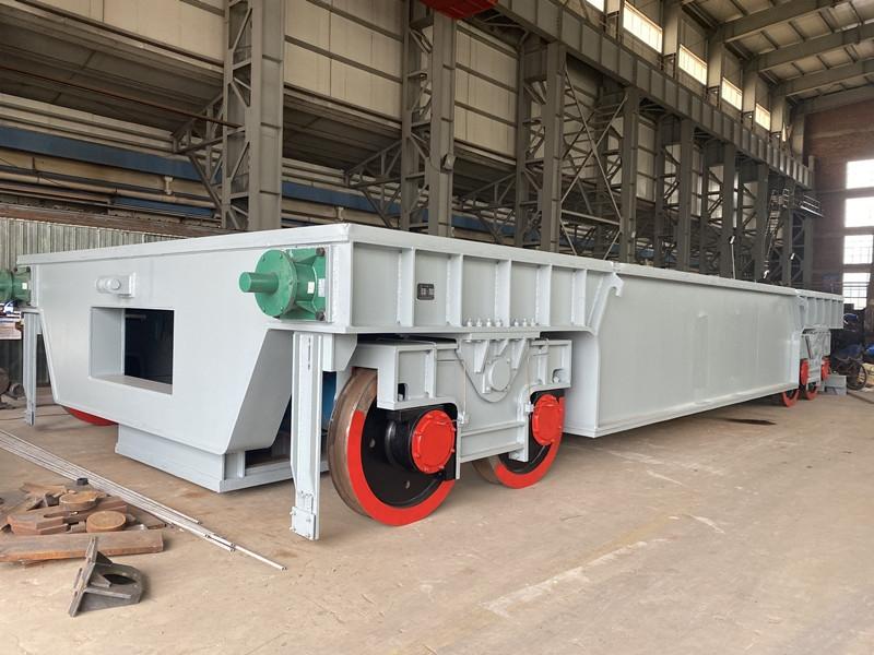 永和冶金110吨炉下渣盘车(载重450吨)发货现场