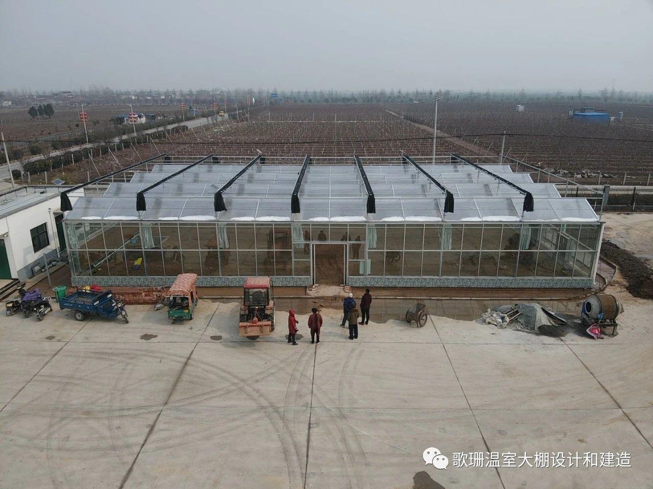 【歌珊温室】新乡获嘉县连栋PC板玻璃温室大