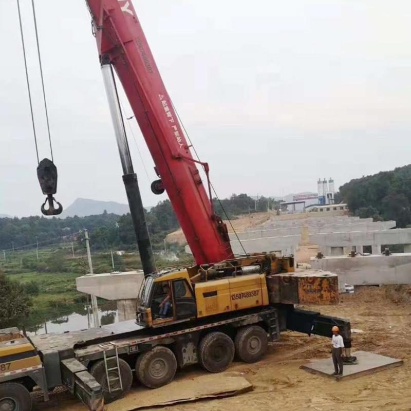 湖南沙坪建筑工程有限公司长益复现桥梁吊装