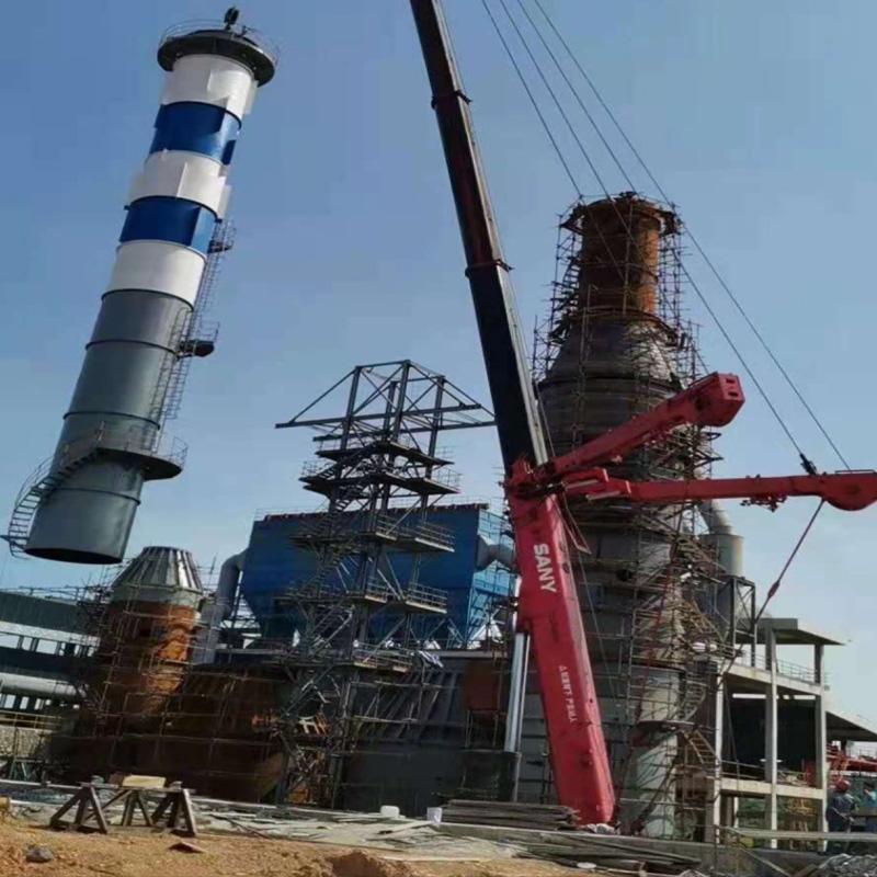 耒阳南方水泥厂脱硫塔吊装