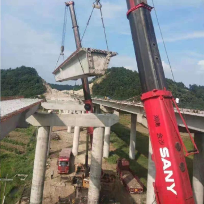 中建五局三公司金塘公路桥梁吊装