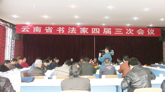 会议由云南省书法家协会秘书长朱兴贤主持.图片