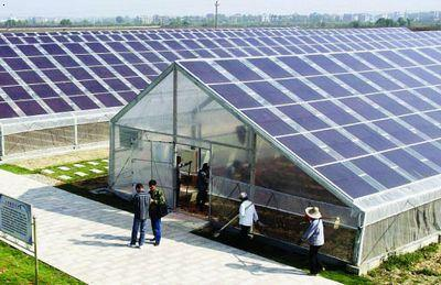 2 高海拔地区使用光伏太阳能日光温室     高海拔地区,白天光照强