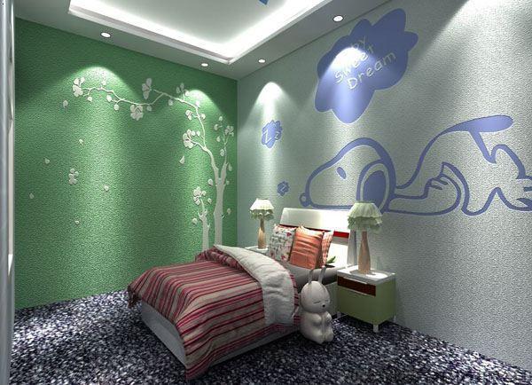 硅藻泥效果图——儿童卧室
