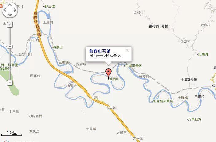 仙西山风景区地理位置